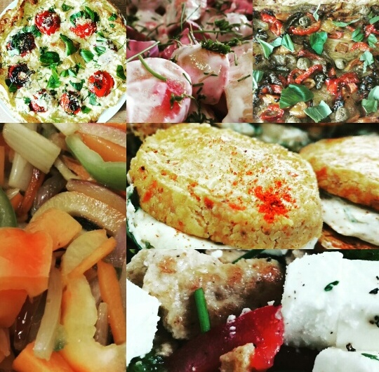 Buffet, Home made, Salad, canapes, bowl food