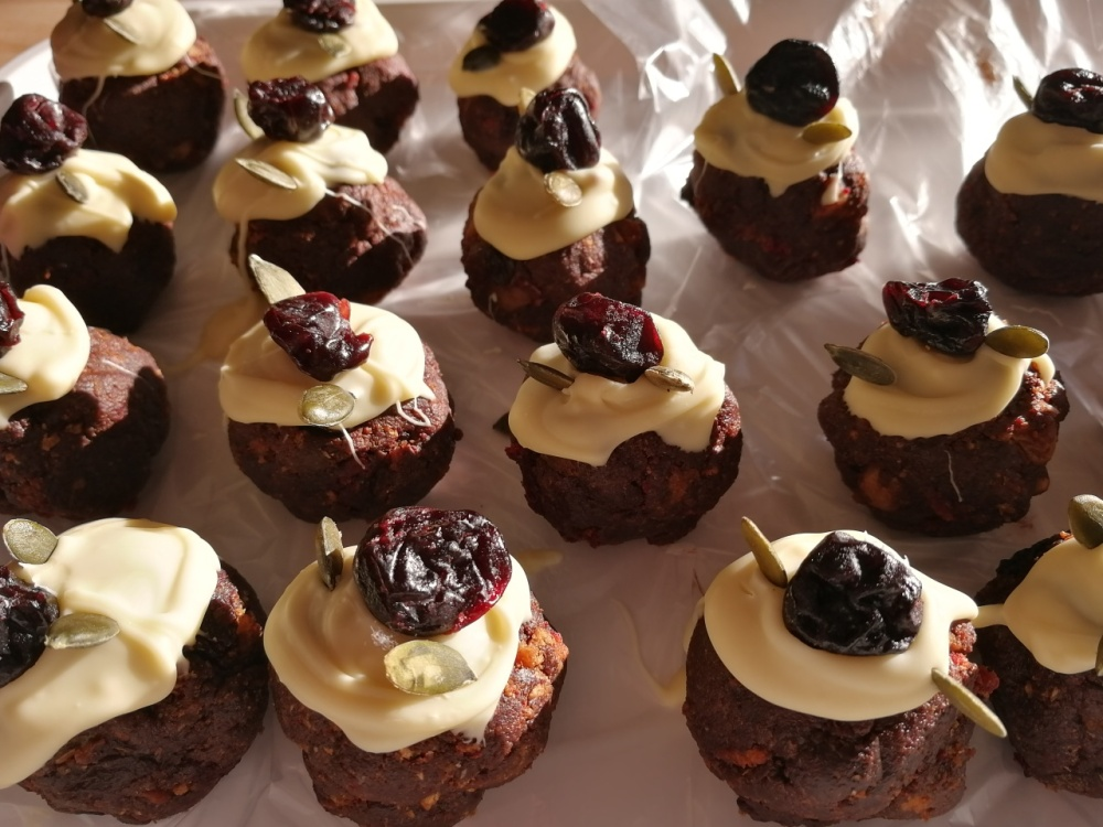 Christmas cake,Christmas pud, leftovers,savoury truffles.