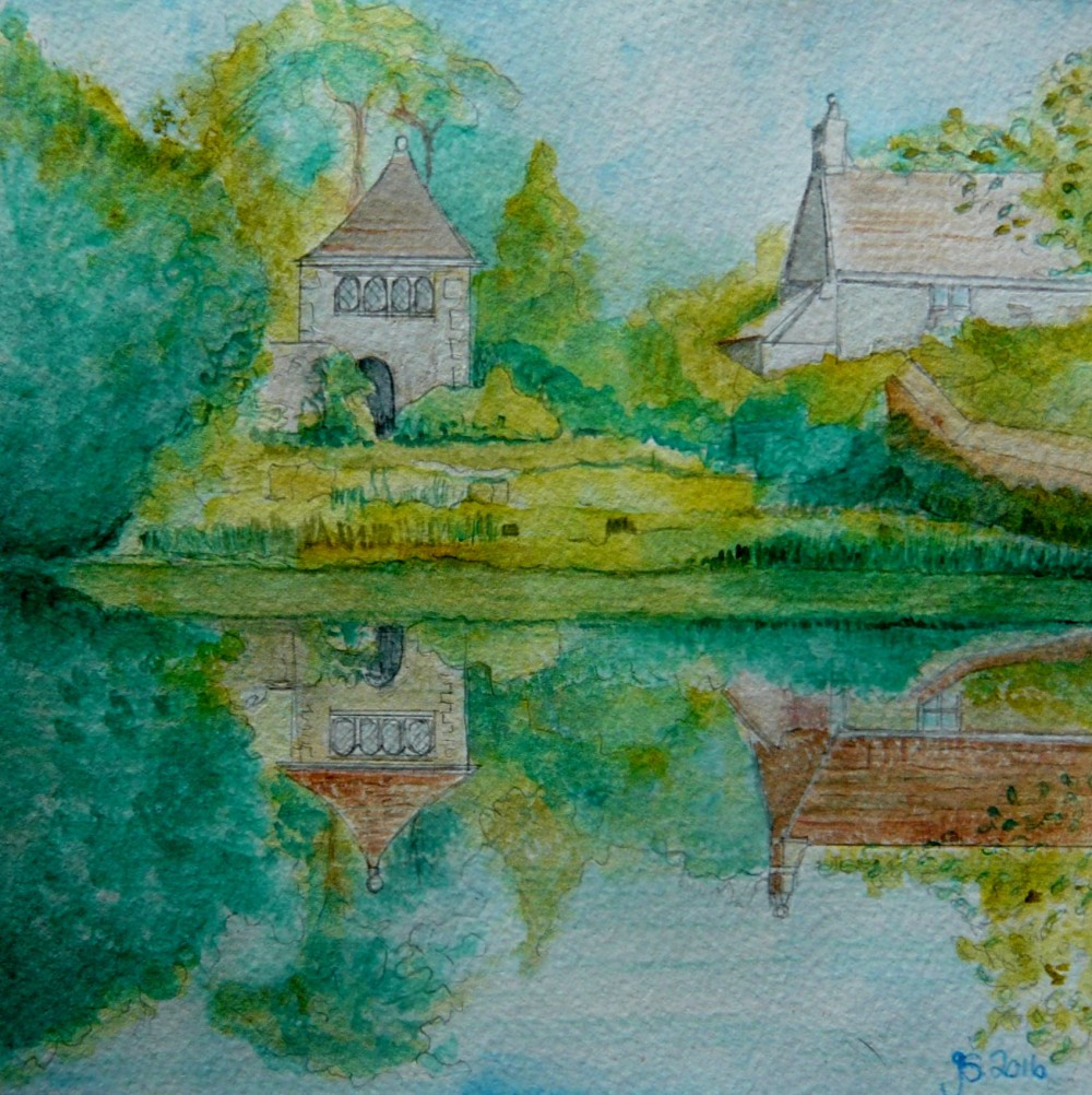 Art, Paintings, Art Cards, Wiltshire, Great Chalfield