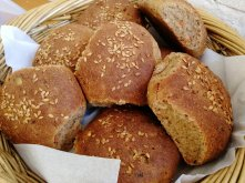 Home made bread, Spelt, Rye, Vegetable, Linseeds