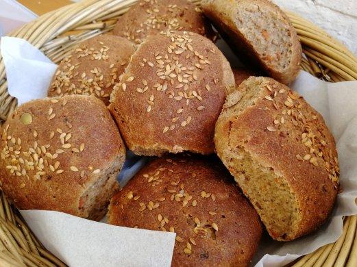 Home made bread, Spelt, Rye, Vegetable, Linseeds