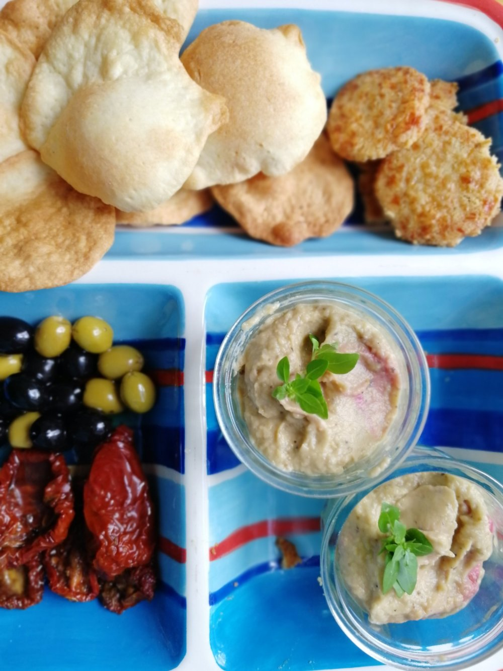 Food, Tappa's, Home made Caviar, Aubergines, Olives